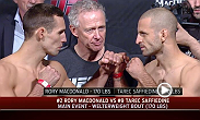 Watch the official weigh-in for UFC Fight Night: MacDonald vs. Saffiedine.