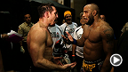 UFC 178: Yoel Romero and Tim Kennedy Backstage Exchange