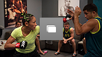 Octagon photos from the fourth episode of The Ultimate Fighter: A Champion Will Be Crowned, featuring the fight between No. 1 seed Carla Esparza and No. 16 seed Angela Hill.