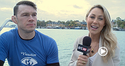 Former UFC light heavyweight champion Forrest Griffin previews the main and co-main event from Fight Night Stockholm on UFC FIGHT PASS with Caroline Pearce from a boat that's touring Stockholm, Sweden.