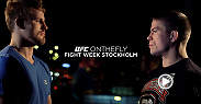 The All-Stars are back in the gym making final preparations whilst the rest of the card arrive in Stockholm and check in to the UFC hotel. We get up close and personal with the fighters at the Ultimate Media Day as they square off against each other.
