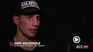 We catch welterweight Rory MacDonald backst