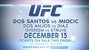 Former heavyweight champion Junior Dos Santos goes toe to toe with Stipe Miocic, then Stockton's favorite bad boy, Nate Diaz, makes his much anticipated return. General on sale is Friday, October 10 on Ticketmaster: http://on.ufc.com/1CJ1PDN