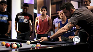 Fighters from The Ultimate Fighter Latin America are treated out at Red Rock Hotel and Casino with Actor and Model Claudia Alvarez before facing off in a game of pool for an all-expense paid night on the Las Vegas strip!