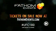 The UFC® returns to movie theaters nationwide on Saturday, Nov. 15 at 10:00 p.m. ET / 9:00 p.m. CT / 8:00 p.m. MT / 7:00 p.m. PT, as Fathom Events and the UFC® bring UFC® 180: VELASQUEZ vs. WERDUM, the UFC's first-ever event in Mexico, to the big screen.