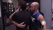 The Ultimate Fighter Latin America competitors Masio Fullen and Leonardo Morales show each other respect following their bout on episode 7 of The Ultimate Fighter. Head over to UFCFIGHTPASS.com to watch the all-new episode!