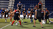 Fabricio Werdum and Cain Velasquez face off in the coaches challenge, a classic battle of penalty kicks. Cain has never played soccer but is confident he will win. Find out who comes out on top, and watch the full episode on UFCFIGHTPASS.com.