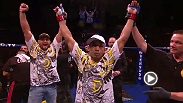 Reigning featherweight champ Jose Aldo makes it a quick night as he knockouts Cub Swanson in the first round at WEC 41. Watch Aldo look to defend his belt as he takes on Chad Mendes in the main event at UFC 179 in Rio de Janeiro, Brazil.