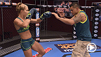 Felice Herrig gets assistance preparing for her rematch with Heather Clark from Team Pettis coaches. After watching film, coach Anthony Pettis is sure Felice has an advantage going into the bout.