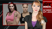 UFC Minute host Lisa Foiles runs down all the need-to-know- news for Thursday, October 23, including Ronda Rousey's next fight and the UFC 179 open workouts.