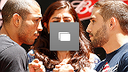 Sesión de entrenamiento abierto y día de medios de UFC 179, 23 de octubre de 2014 en Rio de Janeiro, Brazil.