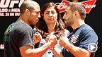 No segundo episódio do UFC Embedded, os lutadores começam a chegar no Rio para o UFC179. Entre um treino e outro, Chad Mendes e José Aldo continuam se provocando. 'Ele precisa estar motivado, porque vou dar uma surra nele!', disse o americano.