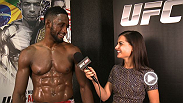 Welterweight prospect meets with Megan Olivi backstage of UFC 179 to discuss his record-typing fifth win of 2014.