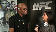 Megan Olivi catches up with UFC legend Anderson Silva backstage at UFC 179.