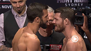 Watch the official weigh-in for UFC Fight Night: Rockhold vs. Bisping.