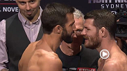 Watch the official weigh-in for UFC Fight Night: Rockhold vs. Bisping, live Thursday, November 6 at 2am GMT.