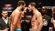Michael Bisping, Luke Rockhold and the other stars from Fight Night Sydney weigh-in in anticipation of their bouts Friday night.
