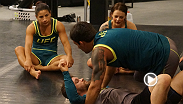 Tecia Torres was given a second-chance at the title after an injury forced Justine Kish from the competition. Torres puts in a heard week of practice with new coaches from Team Pettis with the hopes of advancing to the semifinals.