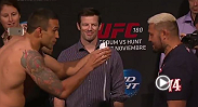 Watch the official weigh-in for UFC 180: Werdum vs. Hunt.