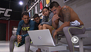 Tecia Torres and coaches from Team Pettis watch film in anticipation of her bout with Bec Rawlings on an all-new episode of The Ultimate Fighter.