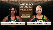 Relive all the action from Tecia Torres vs. Bec Rawlings.