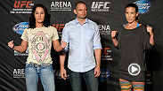 Two of the women's bantamweight divisions brightest up-and-coming fighters Jessica Eye and Leslie Smith talk about their upcoming bout at UFc 180 this weekend.