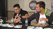In honor of the UFC's first card in Mexico, UFC correspondent Megan Olivi, and fighters Erik Perez, Luke Rockhold, & Michael Chiesa participate in a good ol' taco eating contest.