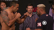 Interim heavyweight title contenders Fabricio Werdum and Mark Hunt, as well as welterweights Kelvin Gastelum and Jake Ellenberger hit the scale before their bouts at UFC 180.