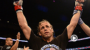 As a physically strong bantamweight, UFC vet Urijah Faber gets the back of Ivan Menjivar and earns himself a submission victory via standing rear naked choke. Faber battles Francisco Rivera in the prelims at UFC 181 in Las Vegas, Nevada.