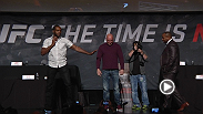 "Check out the highlights from ""The Time Is Now"" press conference that was held at the Smith Performing Arts Center on Monday, Nov. 17. Hear from Dana White, Nick Diaz, Conor McGregor, Daniel Cormier, Jon Jones, Alexander Gustafsson, Ronda Rousey & more."