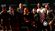 UFC correspondent Megan Olivi hits the red carpet to talk to UFC stars before the Time Is Now press conference at the Smith Center in Las Vegas. Hear from headliners Jon Jones, Anderson Silva, Daniel Cormier, and Chris Weidman, plus champion Ronda Rousey.