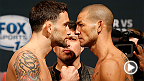 Top featherweights and Fight Night Austin headliners Cub Swanson and Frankie Edgar hit the scale in anticipation of their bout Saturday in Texas.