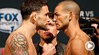 Cub Swanson e Frankie Edgar ficam frente a frente pela última vez antes de protagonizarem o UFC Fight Night deste sábado, no canal Combate.  Assine o Canal Combate: http://on.ufc.com/assinecombate