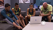Striker Jessica Penne prepares to take on hard-charging strawweight Jessica Penne with Team Pettis coaches before taking the Octagon in an all-new episode of The Ultimate Fighter!