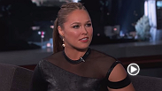 "UFC women's bantamweight champ ""Rowdy"" Ronda Rousey is back on Jimmy Kimmel Live to talk about her signature move, Eminem's new song and her nickname."