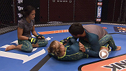 Top seed Carla Esparza plans on using her strong wrestling to secure a win in the Ultimate Fighter semifinals. Watch her work with coaches on her ground game and new ways to gain control in the Octagon.