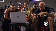 Jessica Penne talks game plan with her coaches before she takes on Carla Esparza in The Ultimate Fighter semifinals. Watch an all-new episode Wednesday at 10PM/7PM ETPT on FOX Sports 1.
