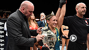 The new UFC women's strawweight champion Carla Esparza reflects on her win over Rose Namajunas during The Ultimate Fighter Finale main event.