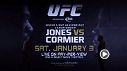 UFC light heavyweight champion Jon Jones and Daniel Cormier will finally square off at UFC 182. Jones said to expect violent and malicious things. Cormier said Jones has never faced a fighter like him. It goes down on Jan. 3.