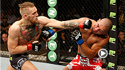 """The Notorious"" Conor McGregor lands a heavy left hand to the face of Diego Brandao, earning himself a knockout victory in the first round. McGregor aims to keep his title hopes alive as he takes on Dennis Siver in the main event at Fight Night Boston."