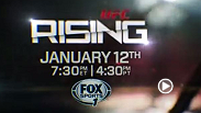 UFC Rising showcases the emerging stars of the Octagon and right now no star is shining brighter than the brash Irishman, Conor McGregor. It airs Jan 12 at 7:30pm/430pm ET/PT only on Fox Sports 1.