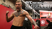 "Conor McGregor continues his showmanship while announcing his new deal with Reebok. Dennis Siver hits pads and takes verbal jabs at the Irish star. Meanwhile, McGregor does a high-energy photo shoot and some ""light"" training in Peter Welch's Gym."