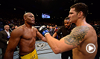 In one of the biggest upsets in the history of the sport, Chris Weidmna burst on the the scene in a big way when he KO'd the greatest of all time, Anderson Silva, at UFC 162. Weidman makes his third title defense against Vitor Belfort at UFC 187.