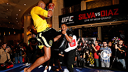 Anderson Silva's spectacular UFC 183 open workout performance and Nick Diaz's absence are discussed by UFC.com's Matt Parrino, Juan Cardenas, and Davi Correia in this open workouts report.