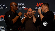 UFC 183 headliners Anderson Silva and Nick Diaz faceoff at media day before taking the Octagon in a historic middleweight bout this Saturday.