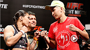No. 10 ranked women's bantamweight fighter Jessica Andrade welcomes in newcomer Larissa Pacheco by submitting her in the first round using a guillotine choke. Andrade takes on Marion Reneau during the prelims at UFC Fight Night Porto Alegre.