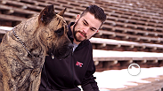 Rising welterweight star Brandon Thatch is a tough guy with a soft side - he loves dogs. Owner of two presa canario dogs, he loves spending time with them when he's not training. Watch Thatch in the main event at UFC Fight Night Broomfield this weekend.