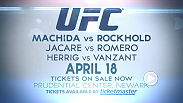 "The UFC returns to Newark, New Jersey with an exciting main event between No. 3 middleweight contender Lyoto ""The Dragon"" Machida and No. 5 Luke Rockhold. Tickets are on sale now!"