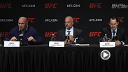 UFC press event featuring UFC Chairman and CEO Lorenzo Fertitta and UFC President Dana White.