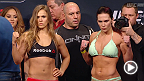 Watch the official weigh-in for UFC 184: Rousey vs. Zingano, live Saturday, February 28 at 1pm NZDT.